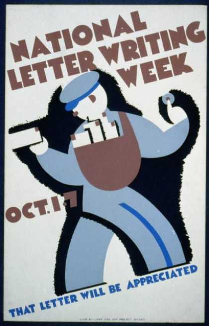 National letter writing week, Oct. 1-7 – That letter will be appreciated. (1936)