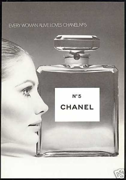 Every Woman Loves Chanel No 5 Perfume Photo (1970)