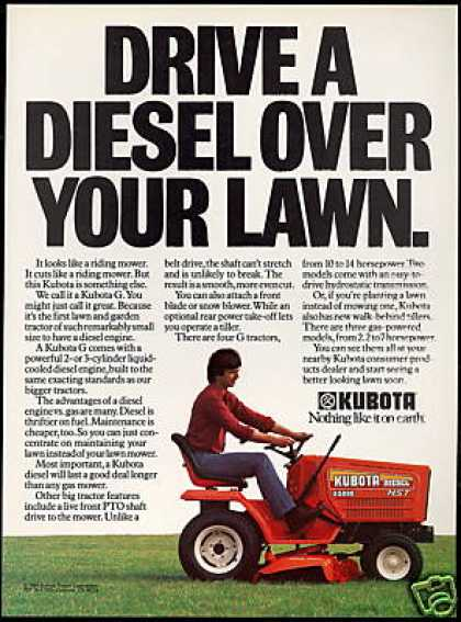 Kubota Diesel Riding Lawn Mover Tractor (1985)