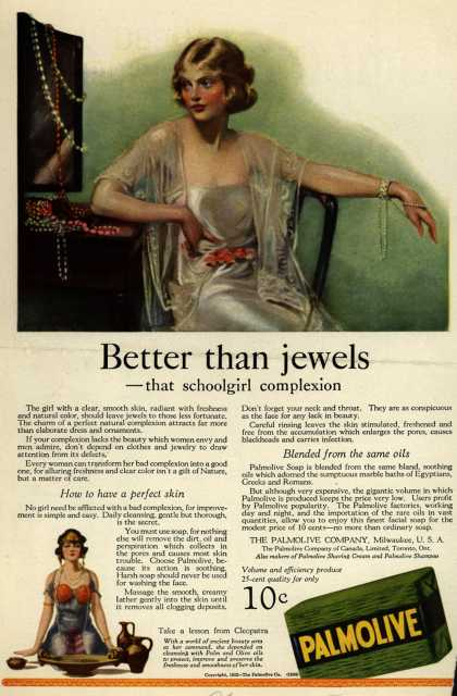 Palmolive Company's Palmolive Soap – Better than jewels (1922)