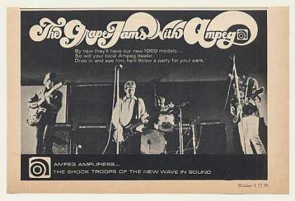 The Grape Band Jams with Ampeg Amps Photo (1968)