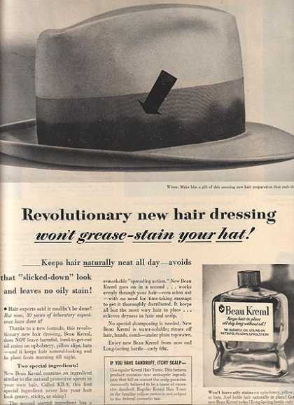 Beau Kreml's Revolutionary new hair dressing (1954)