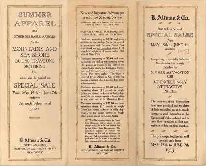 B. Altman & Co.'s summer apparel – Summer Apparel ... (1913)