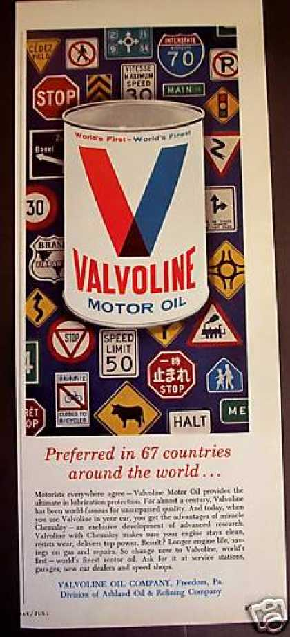 Valvoline Motor Oil Around the World (1965)