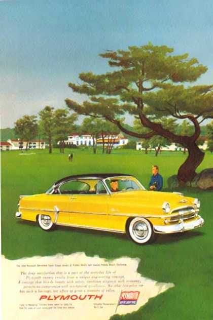 Plymouth Car – Belvedere Sport Coupe – Yellow & Black Top (1954)