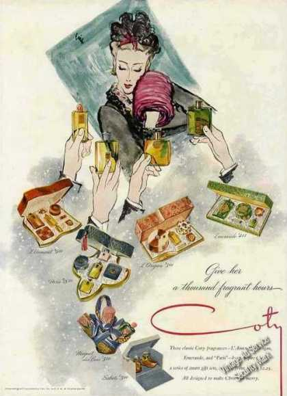Coty Gifts &quot;Give Her a Thousand Fragrant Hours&quot; (1943)