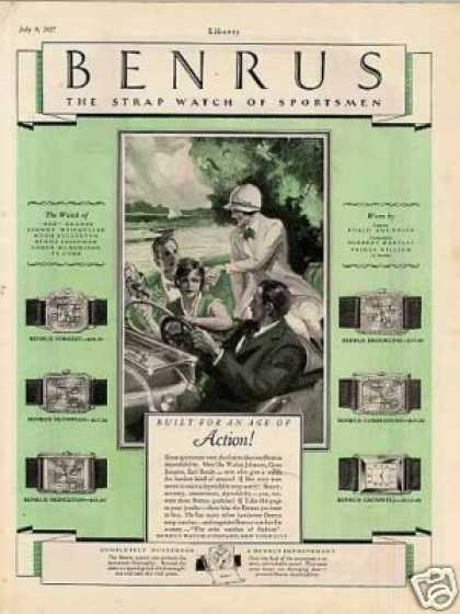 Benrus Watches Color (1927)