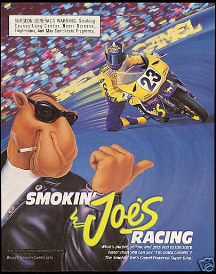 Joe Camel Cigarettes Motorcycle Super Bike Race (1994)