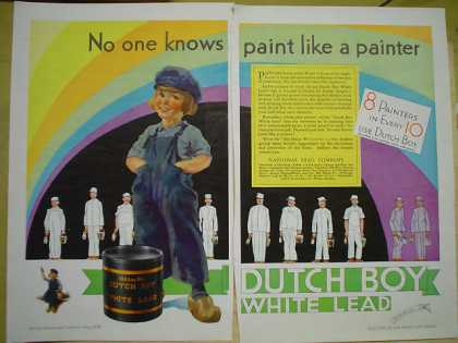 Dutch Boy white lead paint Rainbow colors (1930)