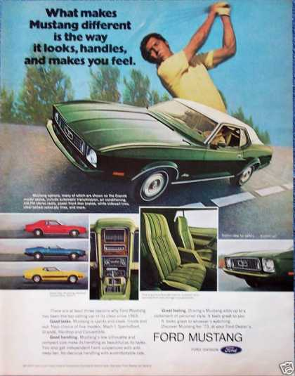 Ford Mustang Different Look Handle Feel Golf Swing (1973)
