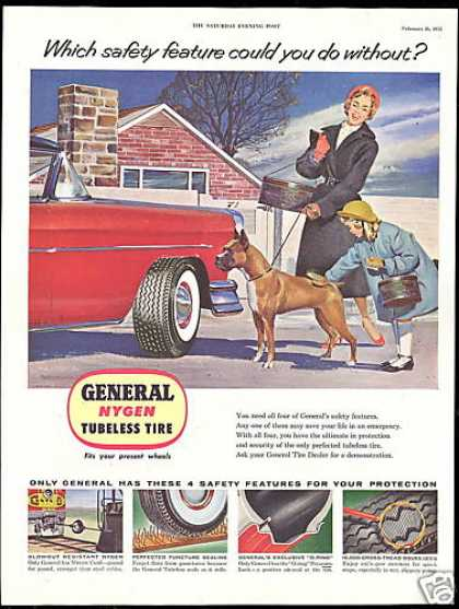 Boxer Dog Art General Nygen Car Tire (1955)