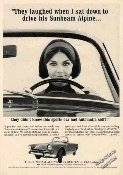 Sunbeam Alpine With Automatic Shift Car (1964)