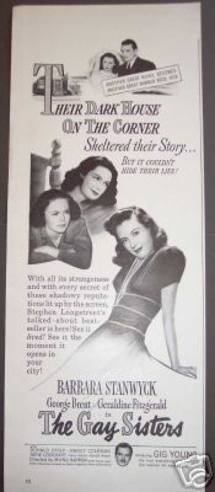 Barbara Stanwyck the Gay Sisters Original Movie (1942)