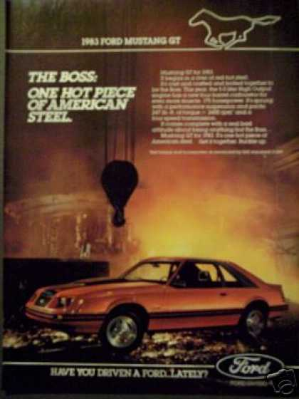 The Boss Ford Mustang Gt for 1983 Photo (1982)