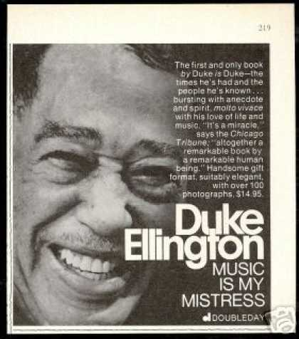 Duke Ellington Music Is My Mistress Book Promo (1973)
