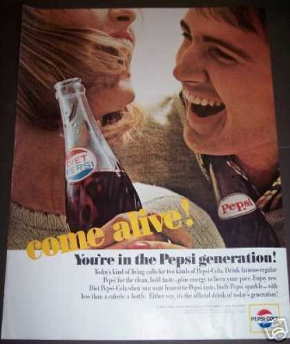 Pepsi Generation ..come Alive! Soda (1964)