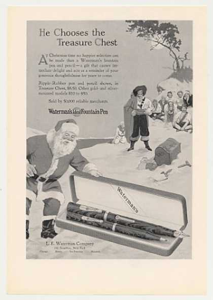 Waterman's Fountain Pen Pencil Santa Treasure (1926)