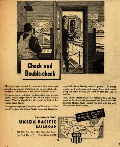 Union Pacific Railroad's Safety – Check and Double – check (1945)