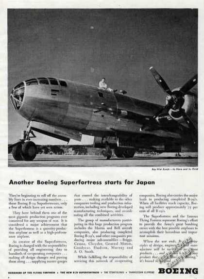 Boeing Superfortress Photo Wwii (1944)