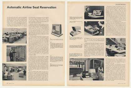 Airline Reservation Systems 8-Page Photo Article (1963)