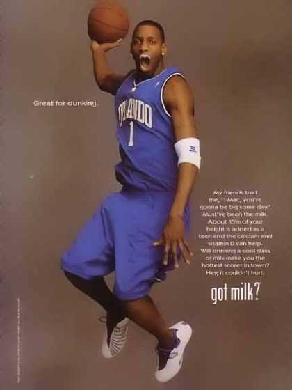Tracy McGrady in Blue – GOT MILK (2004)