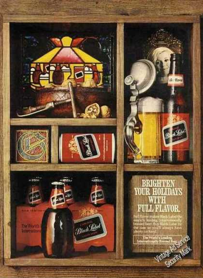 Carling Black Label Beer Brighten Your Holidays (1972)