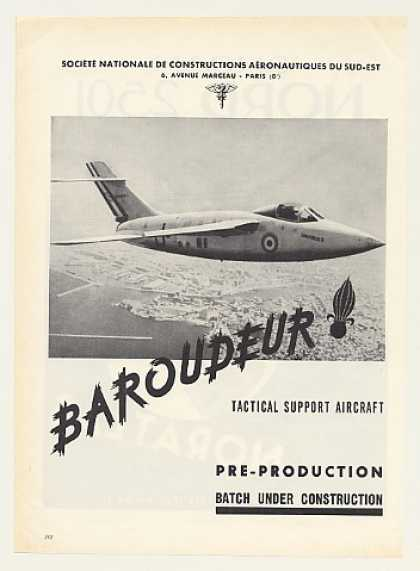 Sud Baroudeur Tactical Support Aircraft Photo (1955)