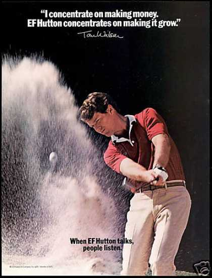 Tom Watson Golf EF E.F Hutton People Listen (1982)