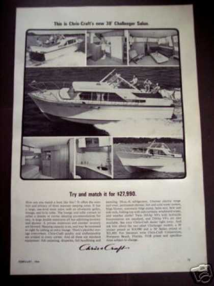 Chris Craft 38' Challenger Salon Yacht Boat (1964)