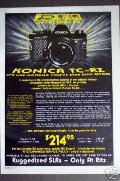 Konica Tc-rz Limited Edition Camera (1977)