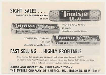 Tootsie Roll Fudge Caramel Candy (1955)