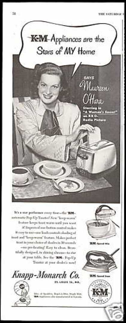 Maureen O'Hara K&M Toaster Appliance (1949)