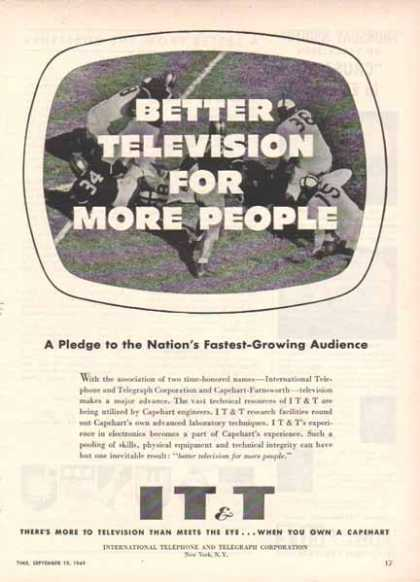 IT&T International Telephone & Telegraph – Better Television (1949)
