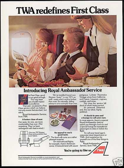 TWA Airlines Royal Ambassador Service (1981)