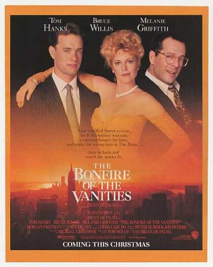 The Bonfire of the Vanities Movie Promo Photo (1990)