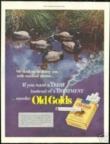 Hunting Duck Decoy Old Gold Cigarette (1951)