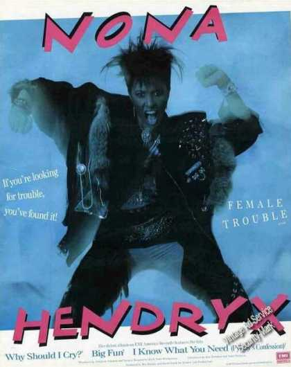 Nona Hendryx Photo Collectible Music (1987)