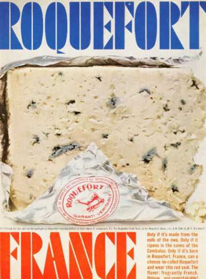 Roquefort French Cheese Photo (1961)