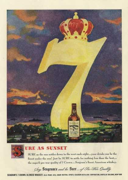 Seagrams Seven 7 Whiskey (1949)