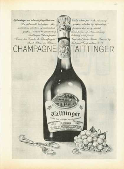 Taittinger French Bottle 1953 Champagne (1961)