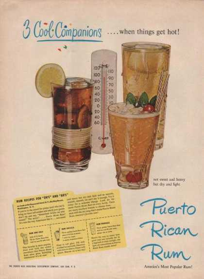 Puerto Rican Rum 3cool Companions (1949)