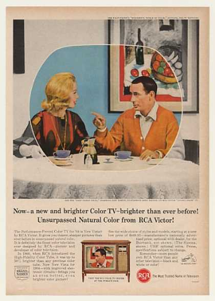 Joey Bishop Abby Dalton RCA Sienna Color TV (1964)