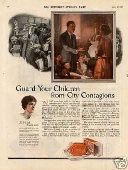 "Lifebuoy Soap Color Ad ""Guard Your Children... (1923)"