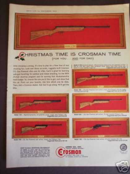 Crosman Co2 Gas Powered & Air Rifles (1963)