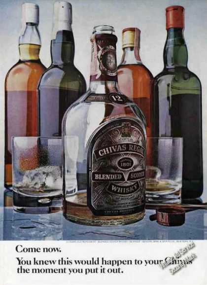 Chivas Regal Blended Scotch Whisky Bottles (1970)