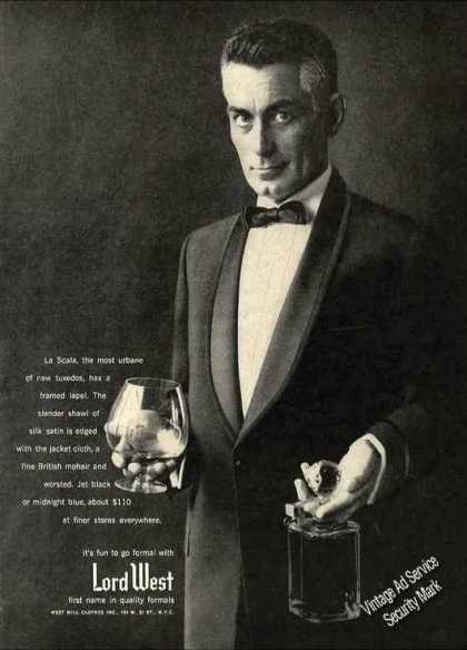 La Scala Tuxedo By Lord West Fashion (1957)