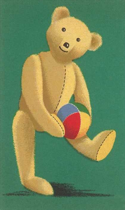 Perky Teddy Bear with Ball