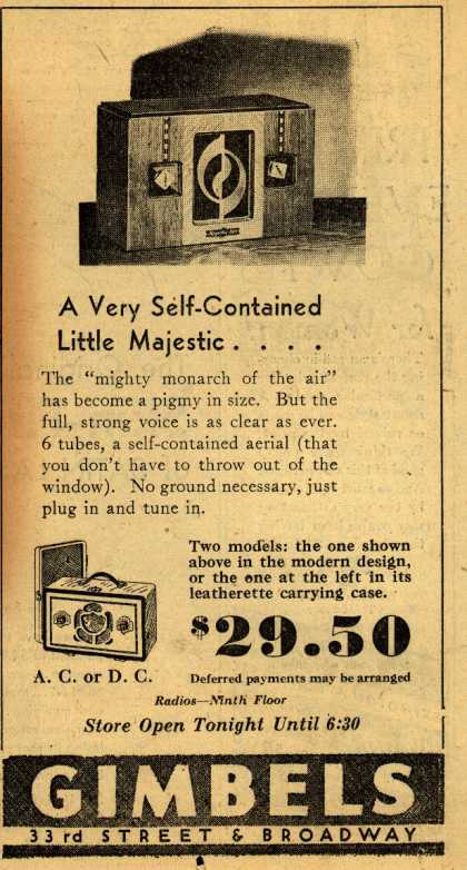 Majestic&#8217;s Various &#8211; A Very Self-Contained Little Majestic... (1933)