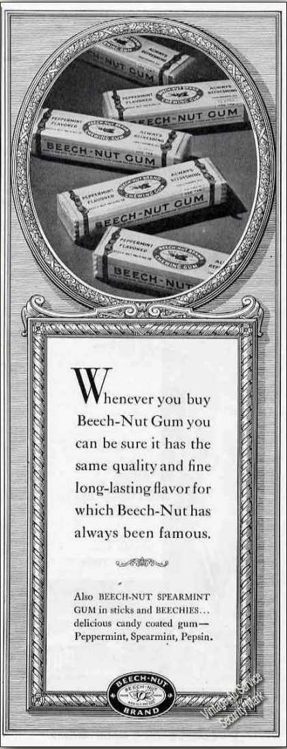Beech-nut Chewing Gum Collectible (1947)