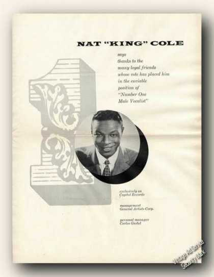 "Nat ""King"" Cole Picture Rare (1954)"